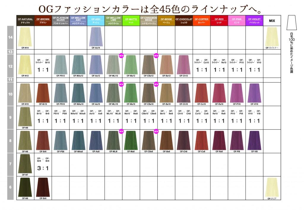 OGカラーチャート